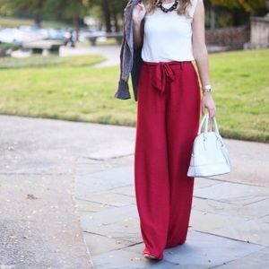 ANTHRO MAEVE WIDE LEG BELTED PANT